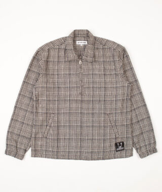 check wool blend pullover