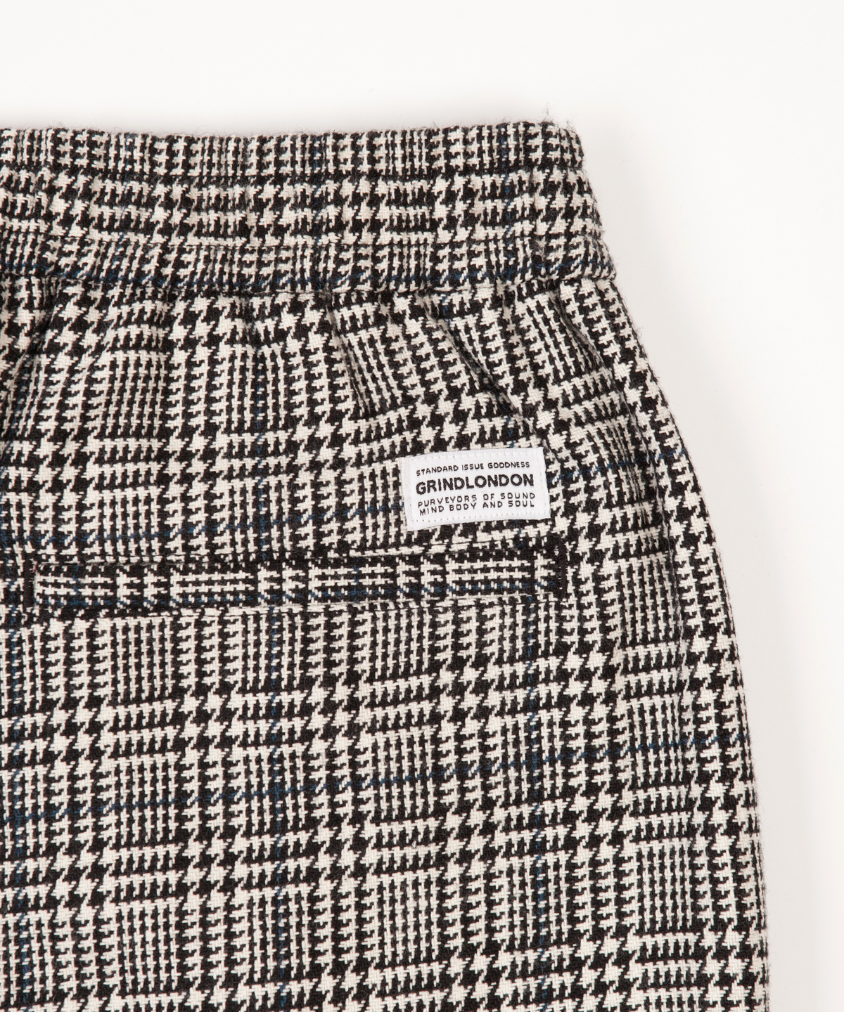 check wool blend relaxed trouser detail 2