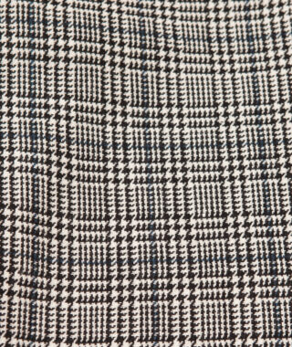 check wool blend relaxed trouser detail 3